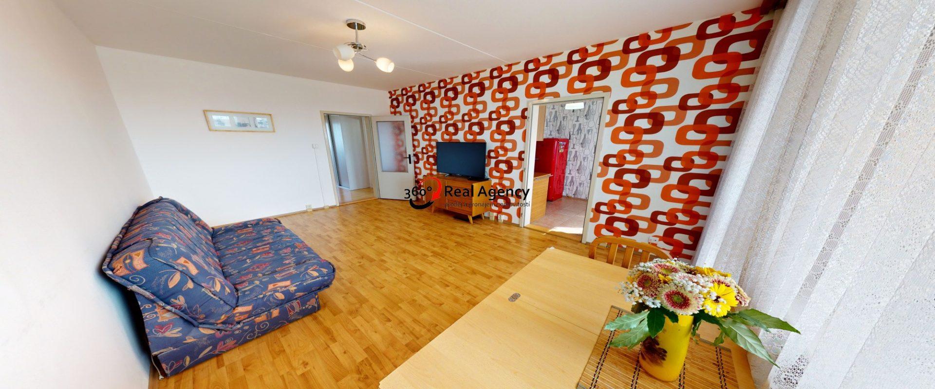 Prodej bytu s krásným výhledem 3+1/L, ul. Benkova, P4 -Chodov.